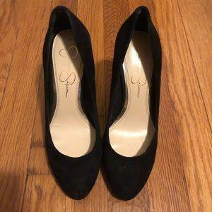 Jessica Simpson Black Suede Heels Size 7